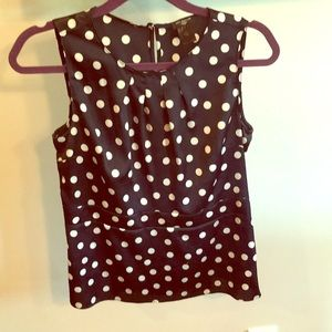Ann Taylor polka dot tank top small petite
